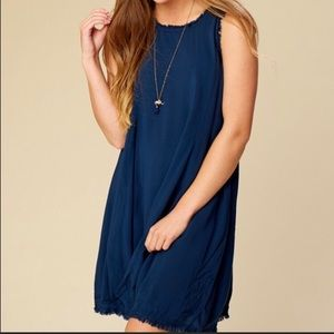Altar'd State Laurel Canyon Dress Blue Small